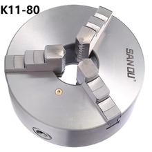 цена на clamp 3 jaw chuck  k11 80 the lathe chuck for drill 80 mm machine accessories for diy metal lathe