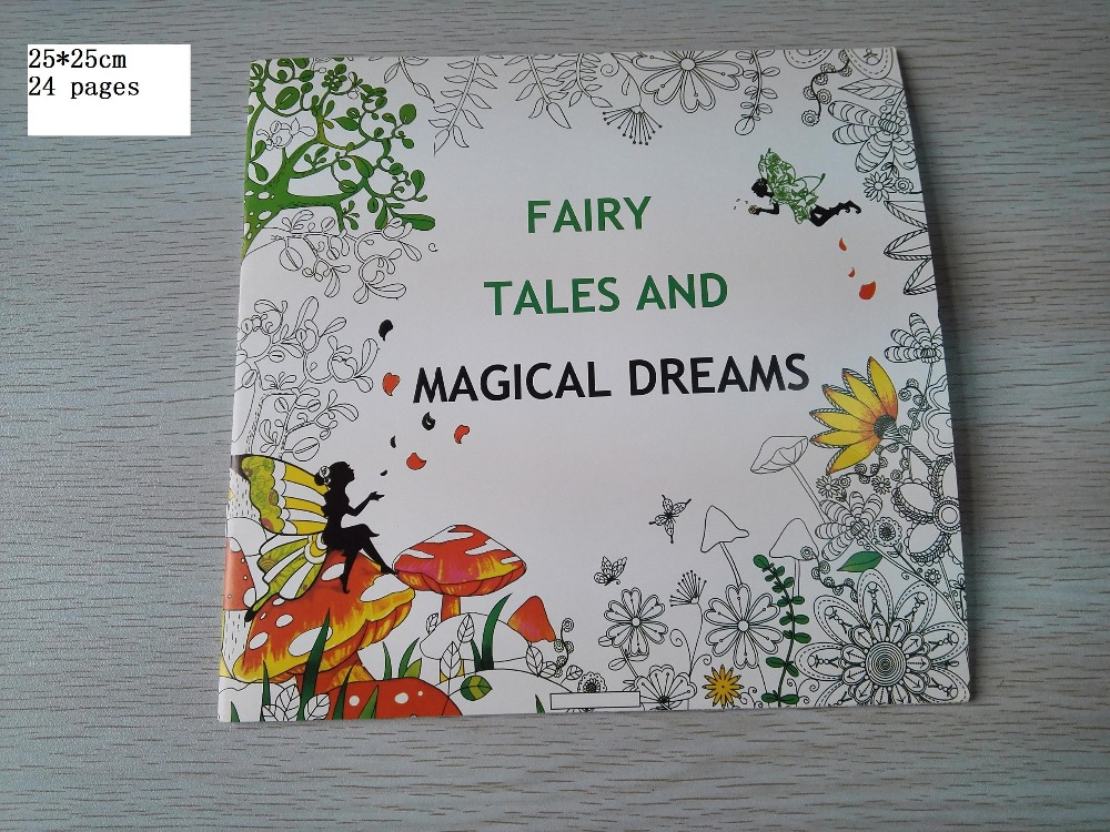 English Edition Magical Dreams Coloring Book 24 Pages Secret Garden Styles For Adult Relieve Stress Painting Drawing Books