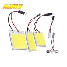 1x T10 W5W Автомобильный светодиодный ламп COB интерьер светильник гирлянда 31 мм 36 мм 39 мм 42 мм C5W C10W светодиодный Авто купольная лампа для чтения 6500 к белый свет 12 В