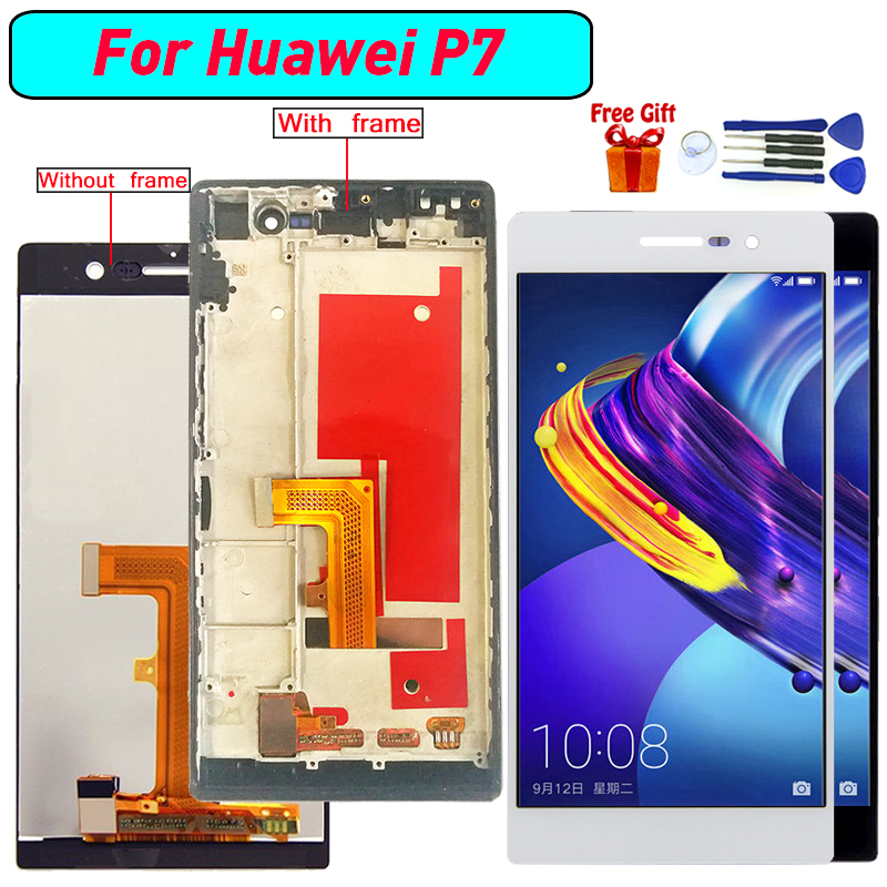 For Huawei Ascend P7 Display LCD Screen Digitizer Assembly For Huawei Ascend P7 display module lcd screen with frame Black WhiteFor Huawei Ascend P7 Display LCD Screen Digitizer Assembly For Huawei Ascend P7 display module lcd screen with frame Black White