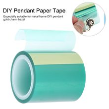 1 Roll 4cmx5m Seamless Paper Tapes For Metal Hollow Frame Expoy UV Resin Craft Open Bezel Setting Helper Tool DIY Charm Pendant(China)