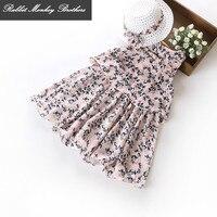 Children Clothing 2017 New Girl Summer Dress Girls Chiffon Floral Summer Sleeveless Beach Vest Dress For