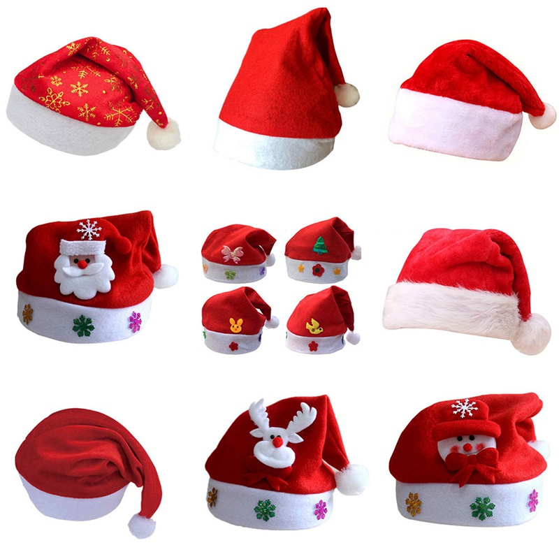 цена на Kids Baby Christmas Hat Santa Claus Reindeer Snowman Fashion Party Caps For Boys Girls Christmas Gifts