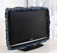 Hanging TV Ring Cover 55 60 Inch Wall Mounted LCD Flower LACE Dustproof Television Covers High