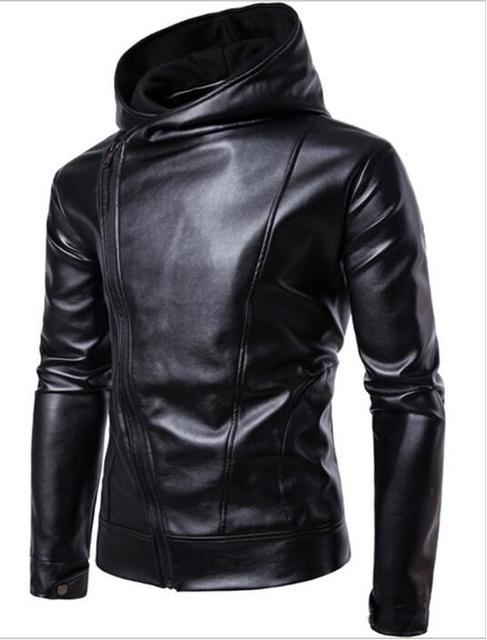 Zhuofei Pu Faux Leather Jacket Men Biker Jacket Leather Jacket Male