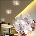 crystal led ceiling light 3W/5W bedroom/foyer/hallway embedded/surface mounted round crystal ceiling lamp warm white AC 90-265V