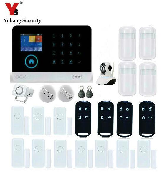 Yobang Security-GSM/WIFI/SMS Home Alarm Kits Wireless IP Surveillance Camera Security System Motion Detect Anti-Intrusion Alarm yobang security rfid gsm gprs alarm systems outdoor solar siren wifi sms wireless alarme kits metal remote control motion alarm