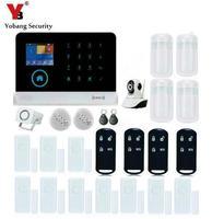 Yobang Segurança-GSM/WIFI/Kits de SMS de Alarme Home Sistema de Segurança de Detecção de Movimento Da Câmera de Vigilância IP Sem Fio Anti-Alarme de intrusão