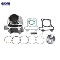 GOOFIT Cylinder Kit GY6 150cc 4 Stroke Piston Rings 57mm Gaskets ATV Go Kart Scooters Moped
