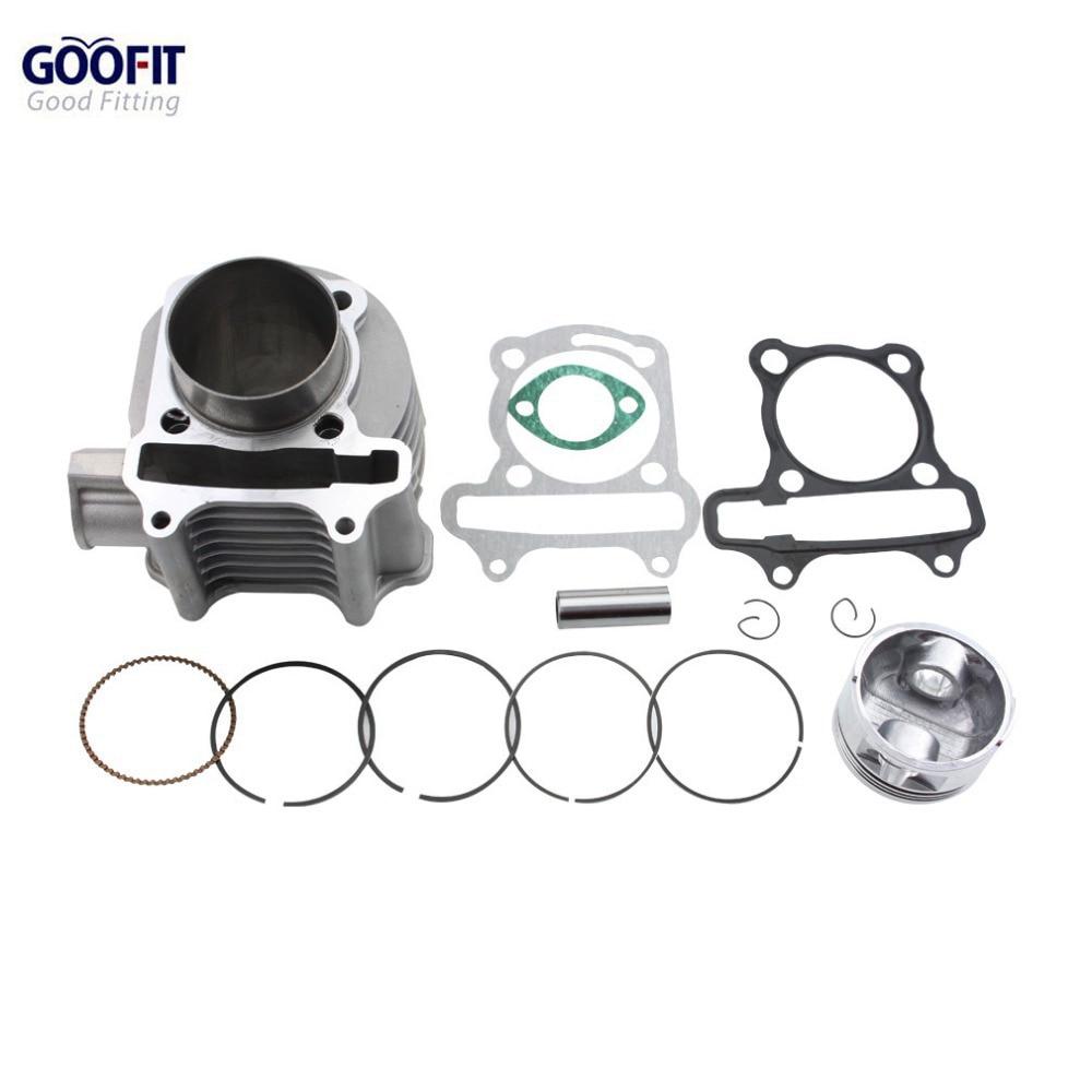 GOOFIT 57mm Motorcykelcylinder accissory kit för GY6 150cc 4 Stroke - Motorcykel tillbehör och delar