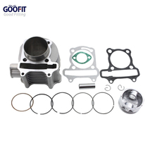 GOOFIT 57mm Motorcycle Cylinder accissory kit for GY6 150cc 4 Stroke Piston Rings Gaskets ATV Go Kart Scooters Moped Group-22