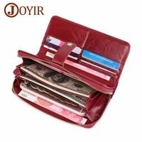 Women Wallets Genuine Leather Wallet Women Clutch Money Bag Card Holder Wristlet Female Long Wallet Phone Bag Purse Hit Product