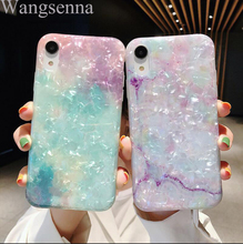 Dream Shell Marble Case For Iphone X XR XS Max Glossy Soft Silicone 6 6S 7 8 Plus Phone Cases Cover