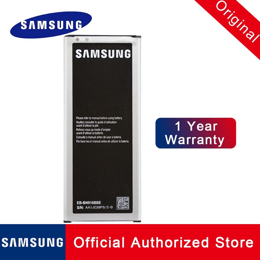 Original Samsung Batterie EB-BN910BBE Für Galaxy note 4 NFC N910A N910U N910F N910H Ersatz Batteria 3220mah EB-BN910BBU