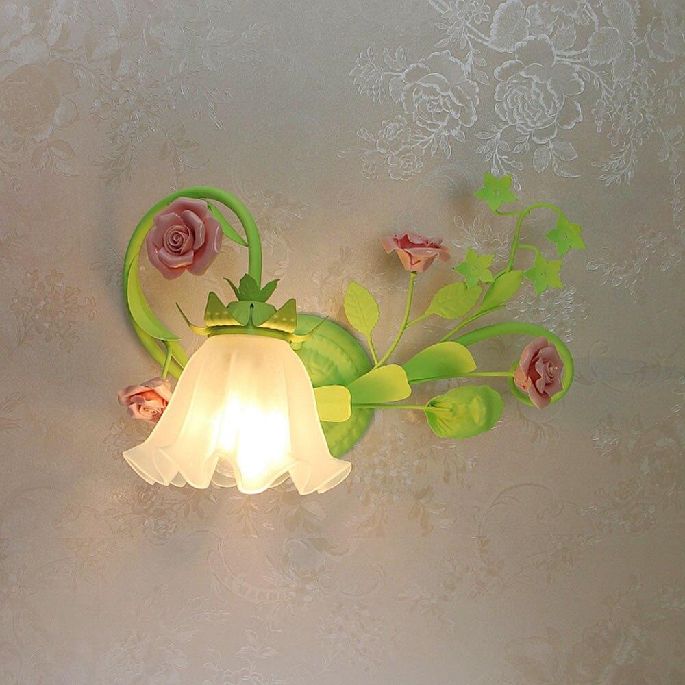 Bedroom Wall Lamps 110-220v Loft Home Lighting Flower Wall Light E27 Home Lighting Wall Mounted Bedside Rea Study Lamp Luminaria