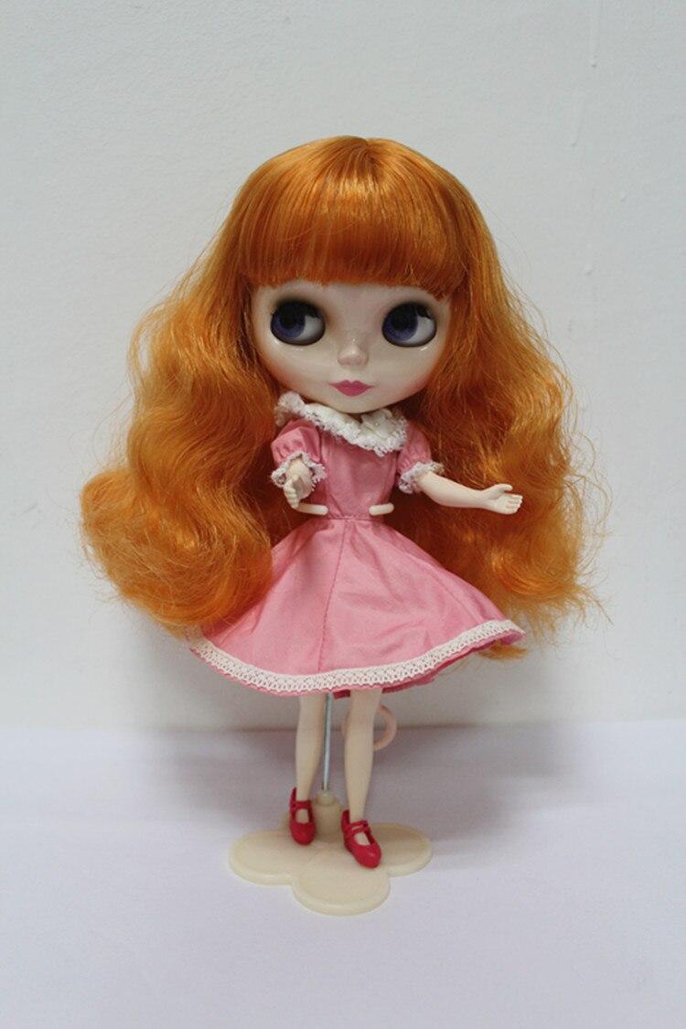 Free Shipping big discount RBL-159DIY Nude Blyth doll birthday gift for girl 4colour big eyes dolls with beautiful Hair cute toy