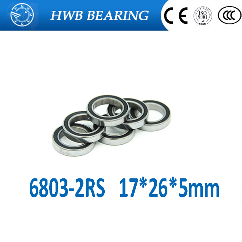 5Pcs 6803-2RS 6803RS 6803 rs 17*26*5mm Deep Groove Ball Bearings 17 x 26 x 5mm for bicycle part Free shipping High Quality scoyco motorbike motorcycle motocross racing body armor riding protective gear absorbent perspiration breathable shirt stretch