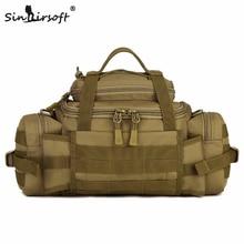 SINAIRSOFT Outdoor Molle katonai övtáskák Vízálló SLR fényképezőgépek Fanny Pack BELT BAG taktika Large Shouder Messenger táskák