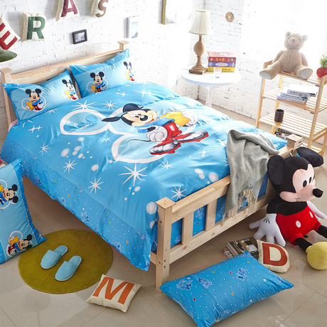 mickey mouse bedding set for kids bedroom decor cotton bedclothes twin duvet covers boys home textile bedspread blue colored 3pcmickey mouse bedding set for kids bedroom decor cotton bedclothes twin duvet covers boys home textile bedspread blue colored 3pc