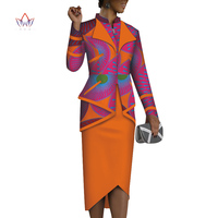 2019 african skirt set for women Dashiki plus size traditional african clothing 2 pieces african print clothing for women WY3844