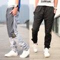 2016 новое прибытие вышитые логотип аппликация моды для мужчин брюки случайных брюки мужчины прямые Плюс толстый бархат джинсы