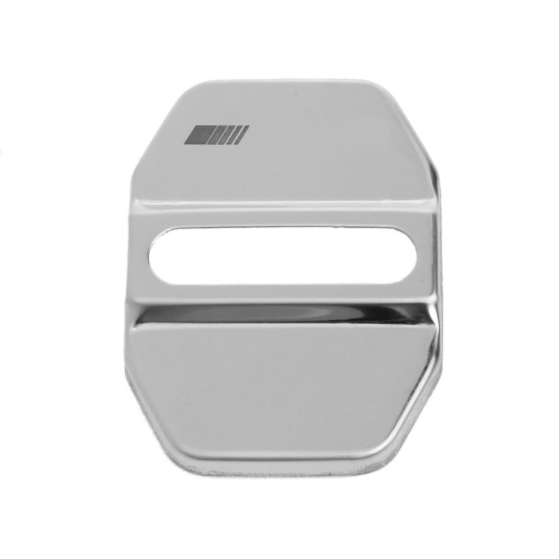 Stainless Steel Car Door Lock Cover Decor Sticker For Benz E C E260L GLK ML GLA