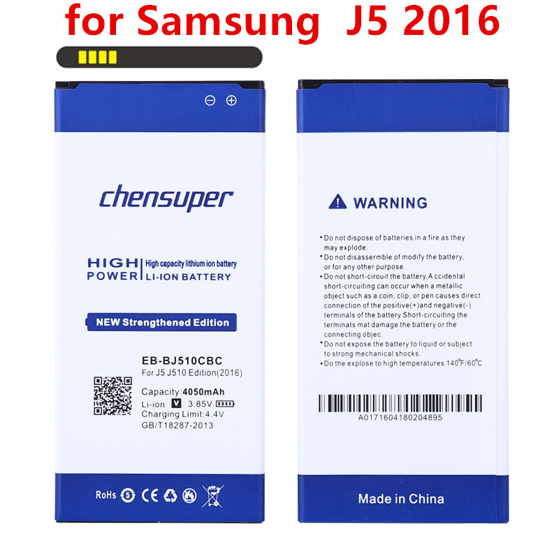 chensuper 4050mAh EB-BJ510CBC for <font><b>Samsung</b></font> Galaxy J5 2016 Edition j5109 j5108 <font><b>J510</b></font> <font><b>Battery</b></font> image