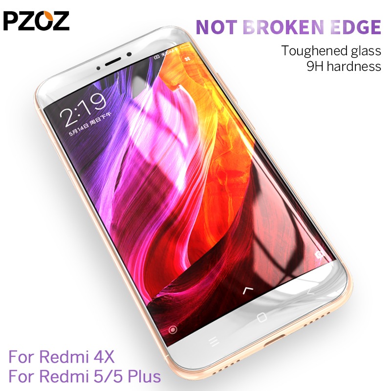 Image 2 - PZOZ xiaomi redmi 4x 5 plus glass tempered cover prime screen protector redmi 4x glass protective Clear phone xiomi redmi 5 film-in Phone Screen Protectors from Cellphones & Telecommunications on