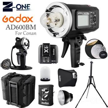 GODOX AD600BM HSS 2.4G Wireless Flash Light Speedlite+X1T-C Transmitter+AD-H600B+Draw-Bar Carry Bag+AD-S16 For Canon Cameras