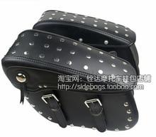 Free shipping motorcycle side bag satchel large Wang skull Kito side box side edging tool kit  saddle bag /Black