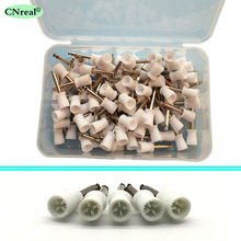 купить 100 pcs/pack Dental Polishing Prophy Cups Brush Polishers 4 Webbed Latch Type Dentist Lab Equipment недорого