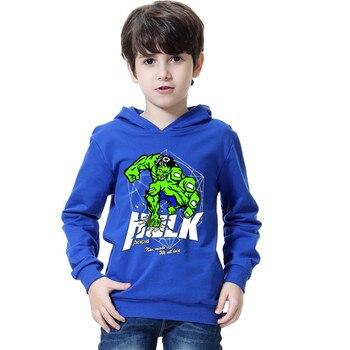 2018 Spring Autumn Boys Hoodies and Sweatshirt 3D Hulk hoodie For Boy Girl Clothing Long Sleeves Hooded T Shirt Kids Basic Coat 1