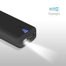 ЕС Технологии Портативный Внешнее Зарядное Устройство Power Bank 5000 мАч Быстрая Зарядка свет mi Powerbank банк батареи питания