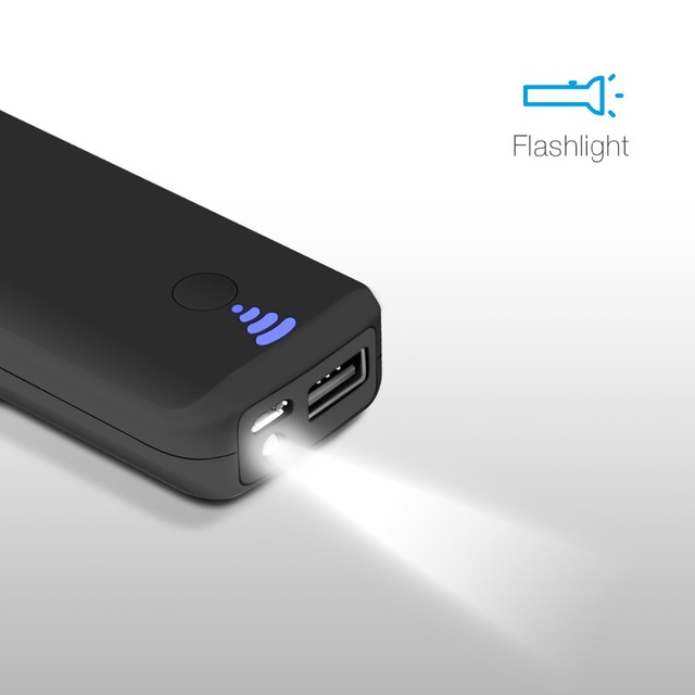 EC Technology Portable External Battery Charger Power Bank 5000 mah Fast Charging LED light mi Powerbank battery bank power
