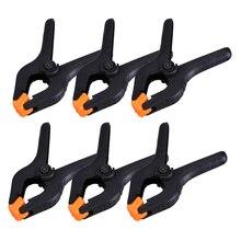 6 unids/lote de abrazaderas ajustables de plástico de nailon de 3 pulgadas para carpintería, herramientas de trabajo de madera, Pinzas de resorte para carpintería, pinzas de carpintería, herramientas de carpintería