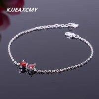KJJEAXCMY Natural Garnet Bracelet 925 Sterling Silver Sterling Silver Jewelry Wholesale 2017 New Styles