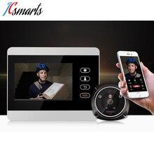 Ihome5 WiFi беспроводной цифровой дверной глазок 4 «передняя дверь глазок камера Wifi дверной звонок с внутренней СВЯЗЬЮ или фотографией