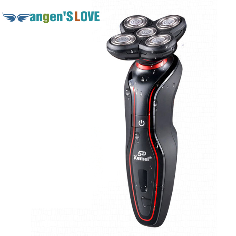 KEMEI KM-6183 Washable 5 Heads Rechargeable Electric Shaver Triple Blade Razor Mens Face Care 5D Floating