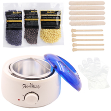 Hot Wax Machine Hair Removal Hard Wax Beans Heater Set 110V/220V-240V Paraffin Epilator Cire 3 Bags Pearl Wax Depilatory