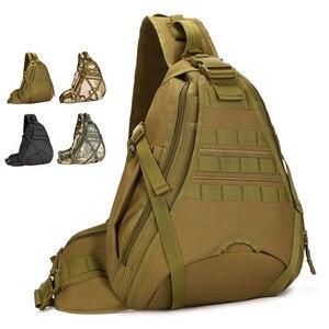 Image 2 - Erkekler 1000D naylon Sling göğüs çanta su şişesi gün geri paketi çapraz vücut Messenger omuz paketi askeri seyahat sürme yeni