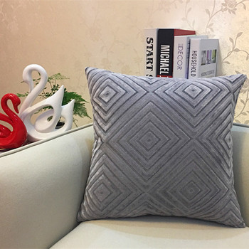 Grey Diamond corduroy Throw Pillow 5