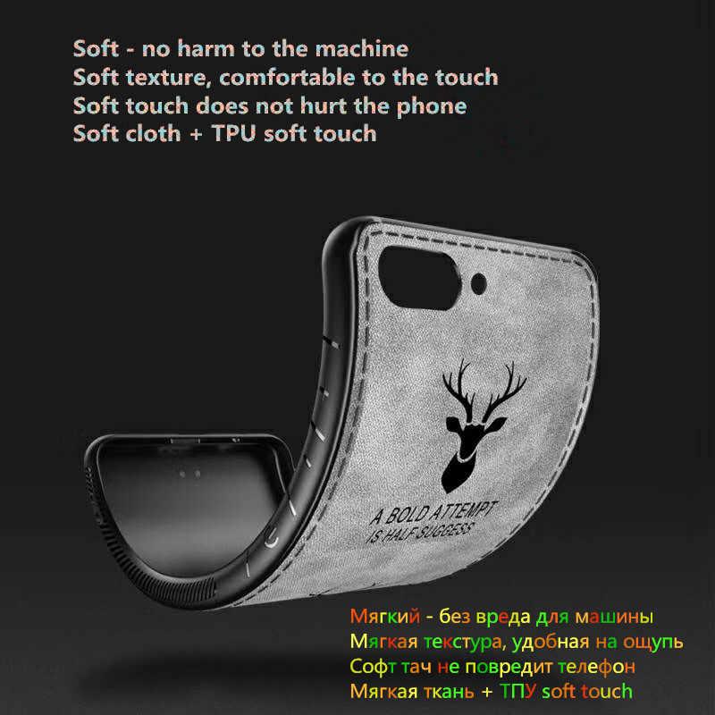 قماش من الألياف الغزلان الهاتف حقيبة لهاتف سامسونج غالاكسي A50 لينة سيليكون الظهر حقيبة لهاتف سامسونج A7 2018 A30 S10 Plus S10e A8 A 50 يغطي