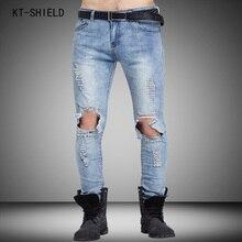 Brand Mens biker jeans Straight Ripped Jeans For Men High Quality Denim overalls Men Fashion Designer Pants Jean Homme Plus size
