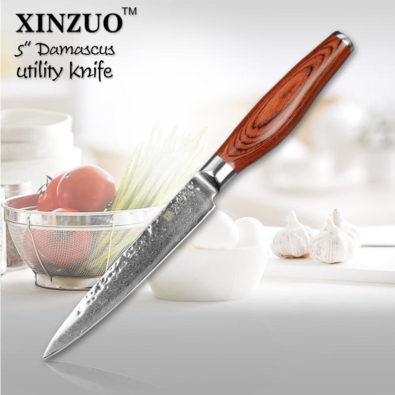 2015 New 73 layers 5 utility font b knife b font Japanese Damascus steel kitchen font