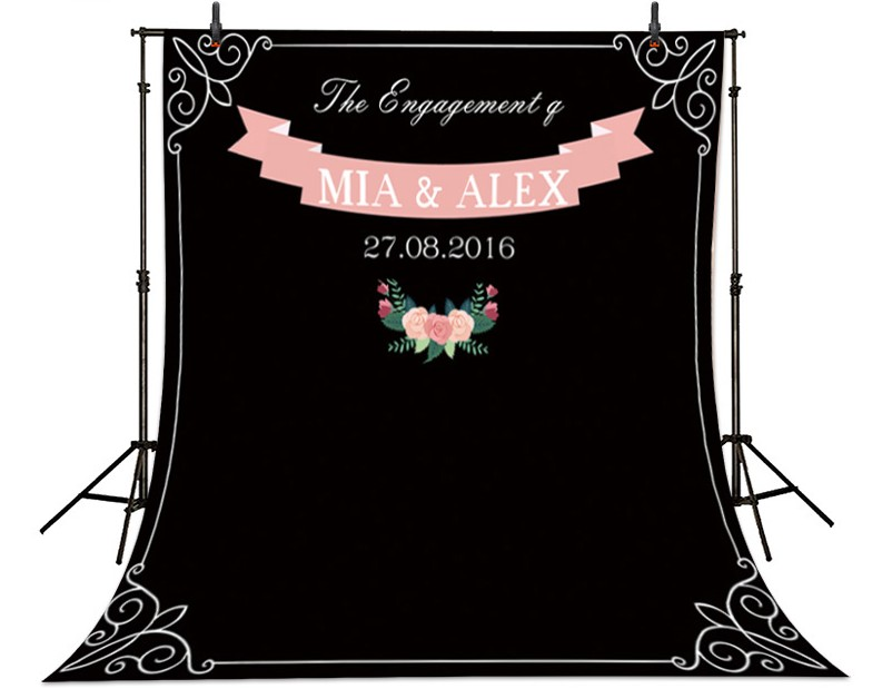 Custom  Wedding photobooth Chalk Archway background High-grade Vinyl cloth Computer printed  DIY name date photocall backdrop dinosaur photography background high grade vinyl cloth computer printed newborn backdrop