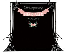 Personalizado photobooth Casamento Giz Archway fundo High-grade pano de Vinil Computer impresso DIY nome data photocall cenário