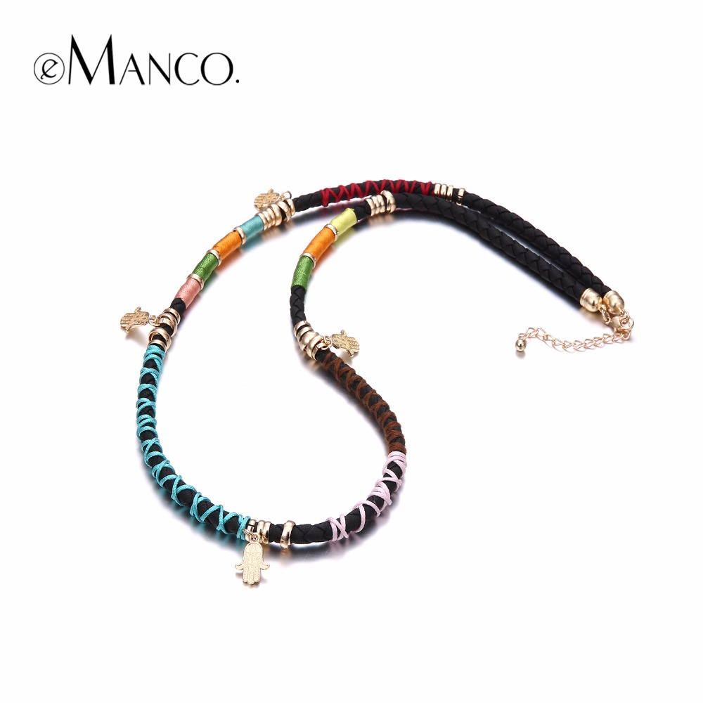 emanco women 39 s minimalist ethnic charms long necklace