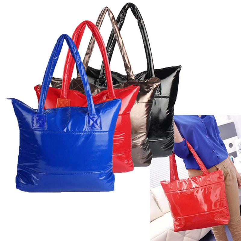 THINKTHENDO Fashion Women Lady Winter Casual Space Bale Cotton Tote Handbag Shoulder Bag