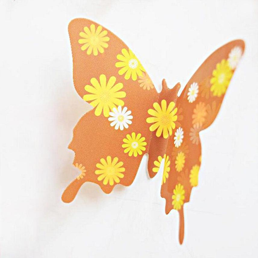 Free shipping DIY 12pcs PVC 3d Butterfly wall decor cute Butterflies ...