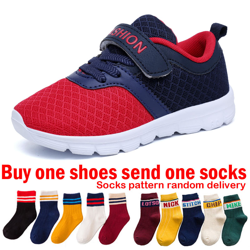 Red Kids Sneakers for Children Tennis Shoes Boys Footwear Fashion Kids Running Shoes for Teenagers Boys Sports Shoes